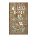 Stratton Home Decor Coffee And Blessings Wall Sign