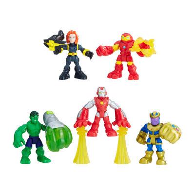 Playskool Heroes Marvel Super Hero Adventures The Power Up Squad Action Figures