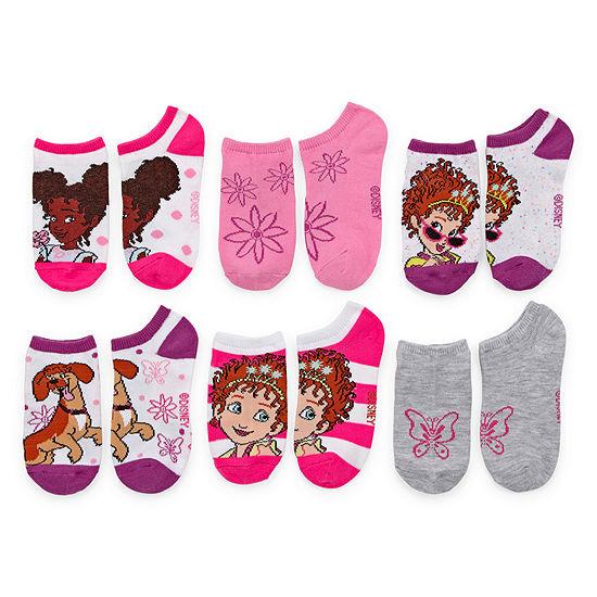 Girls 6 Pair No Show Socks