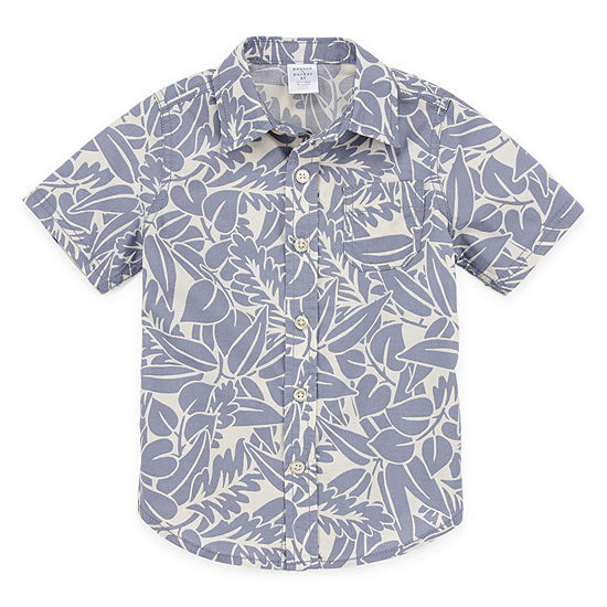 Peyton & Parker Boys Short Sleeve Button-Front Shirt Toddler