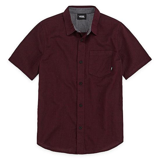 Vans Boys Short Sleeve Button-Front Shirt