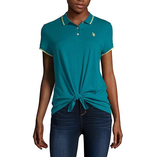 Us Polo Assn. Womens Short Sleeve Polo Shirt Juniors