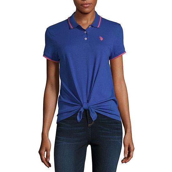 Us Polo Assn Womens Short Sleeve Polo Shirt Juniors