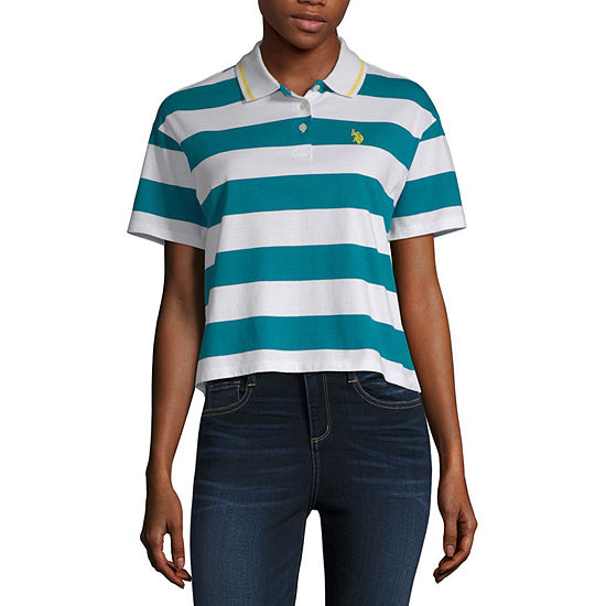 Us Polo Assn. Womens Short Sleeve Polo Shirt Juniors