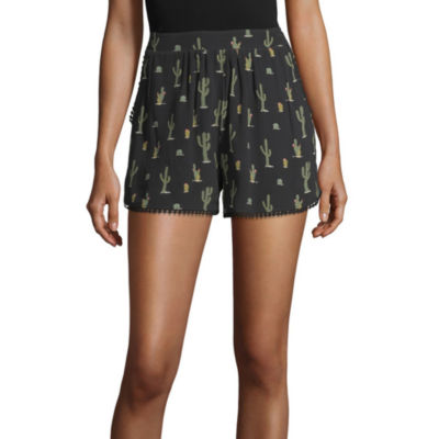 Eyeshadow Womens Mid Rise Pull-On Short-Juniors