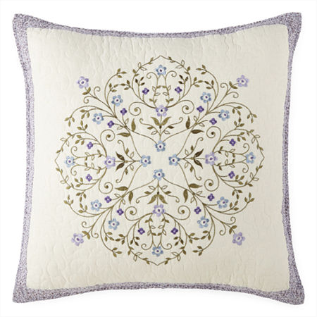 JCPenney Home Kennedy Square Throw Pillow, One Size , Purple