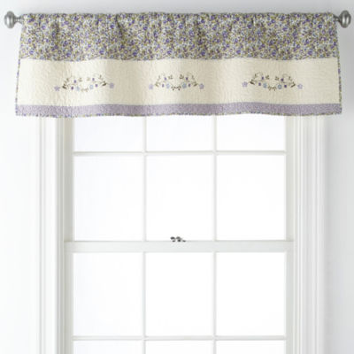 JCPenney Home Kennedy Rod-Pocket Tailored Valance