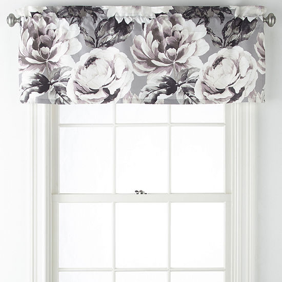 JCPenney Home Rosalyn Rod-Pocket Tailored Valance