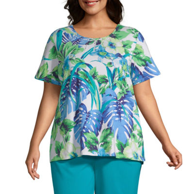 Waikiki Alfred Dunner Parrot Tropical Top - Plus