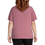 Liz Claiborne Short Sleeve Flutter Sleeve Top - Plus