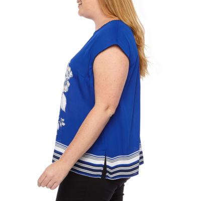 Liz Claiborne Extended Shoulder Top - Plus