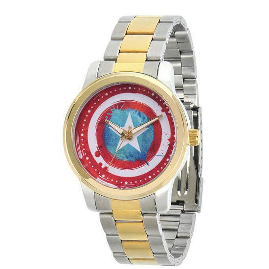 Classic Marvel Mens Two Tone Strap Watch-Wma000057