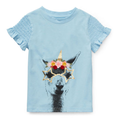 Okie Dokie Toddler Girls Crew Neck Short Sleeve T-Shirt