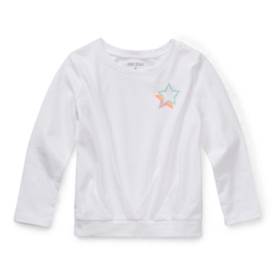 Okie Dokie Toddler Girls Crew Neck Long Sleeve T-Shirt