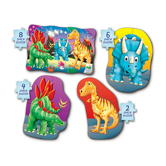 The Learning Journey My First Puzzle Sets  4-In-A-Box Puzzles - Dino