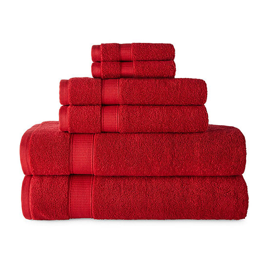 JCPenney Home Performance 6pc Towel Set