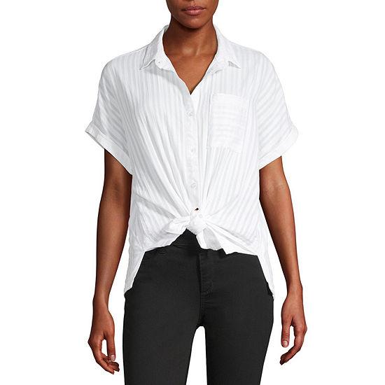 a.n.a Womens Short Sleeve Camp Shirt