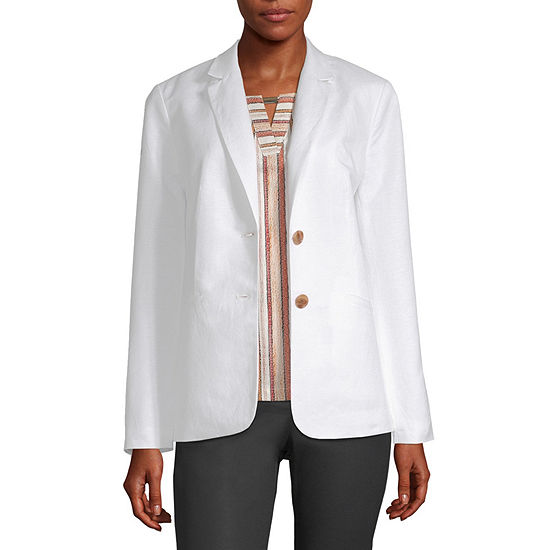 Liz Claiborne Womens Classic Fit Double Breasted Blazer