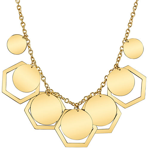DOWNTOWN BY LANA Gold-Tone Hexagon & Disc Necklace