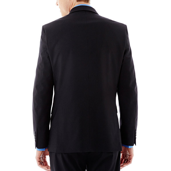 JF J. Ferrar® Black Striped Suit Jacket -  Slim-Fit