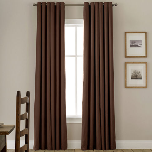 JCPenney HomeTM Jenner Cotton Grommet Top Thermal Curtain Panel
