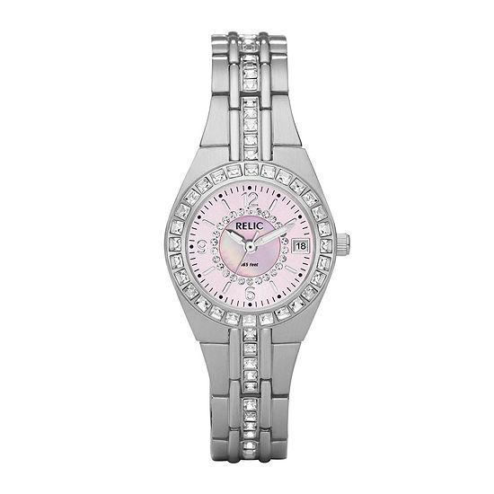 Relic By Fossil Womens Silver Tone Bracelet Watch - Zr11787