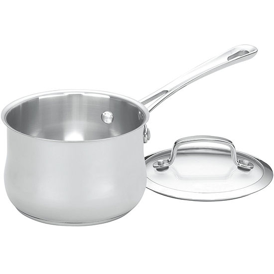 Cuisinart® Contour 1-qt. Stainless Steel Saucepan with Lid