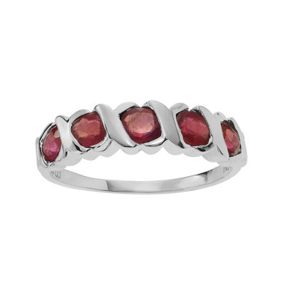 Color-Enhanced Ruby Sterling Silver Ring