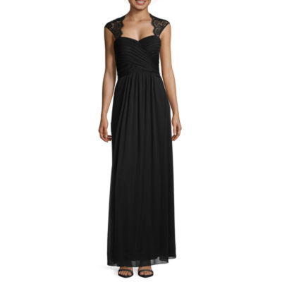 Scarlett Sleeveless Lace-Trim Long Gown - Tall