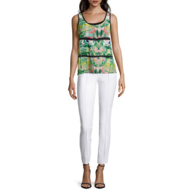 jcpenney.com | nicole by Nicole Miller® Trim Insert Tops And Ankle Pant