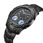 JBW Jet Setter III Black Ion-Plated Stainless Steel  1 1/2 CT. T.W Genuine Diamond Bracelet Watch-J6348d