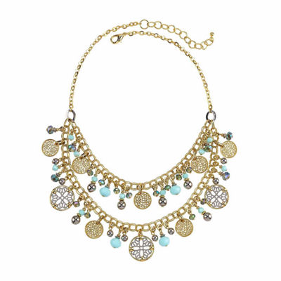 Studio By Carol Womens Beaded Necklace