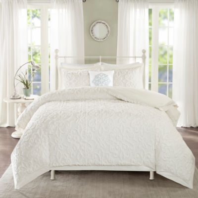 Madison Park Sarah Cotton Chenille 4-pc. Comforter Set