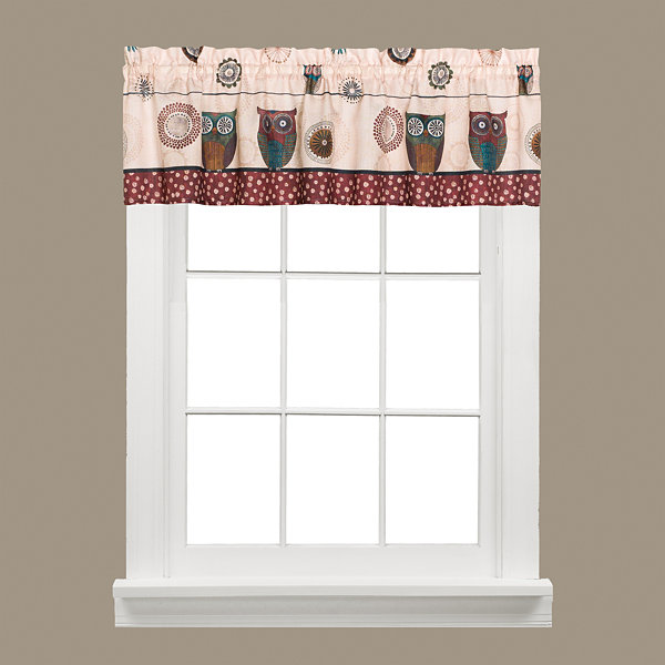 Saturday Knight Spice Owl Rod-Pocket Tailored Valance
