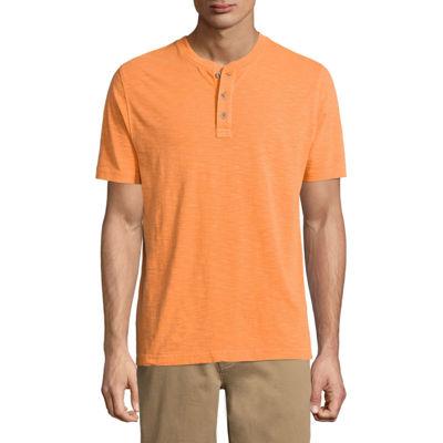 St. John's Bay Havana Short Sleeve Henley Shirt