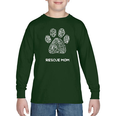 Los Angeles Pop Art Boy's Word Art Long Sleeve - Resue Mom
