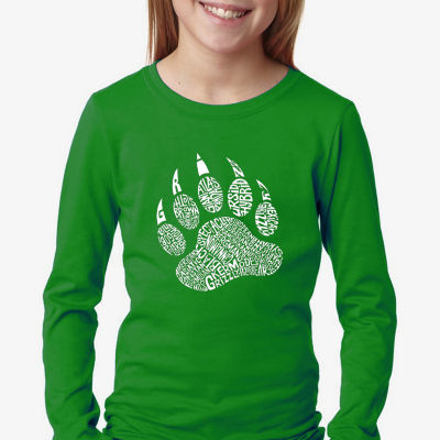 Los Angeles Pop Art Girl's Word Art Long Sleeve -Types of Bears