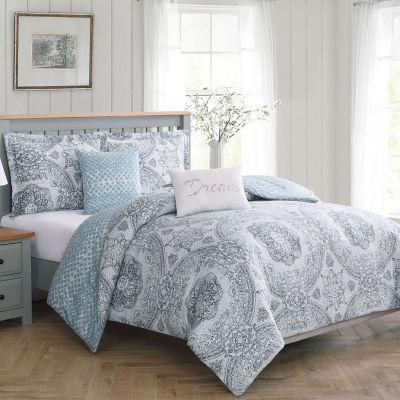 Boho Living Picadilly 5-Piece Reversible Comforter Set