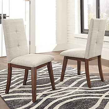 Signature Design By Ashley Collins Upholstered Parsons Dining Side Chairs Set Of 2 Jcpenney Color Two Tone Brown
