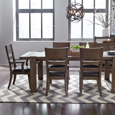 Henna Wood-Top Dining Table