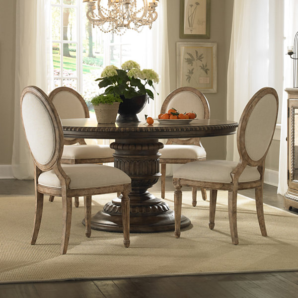 Daphne Wood-Top Dining Table