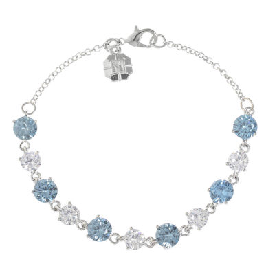 Monet Jewelry Silver Tone Tennis Bracelet