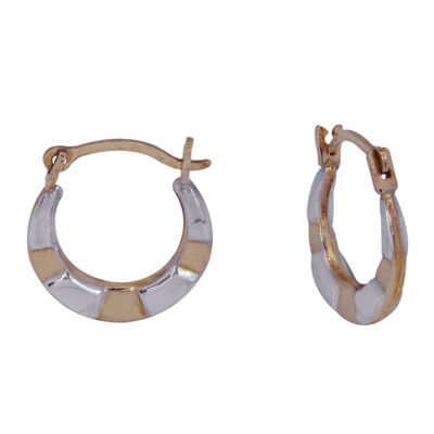 14K Gold 10.5mm Hoop Earrings