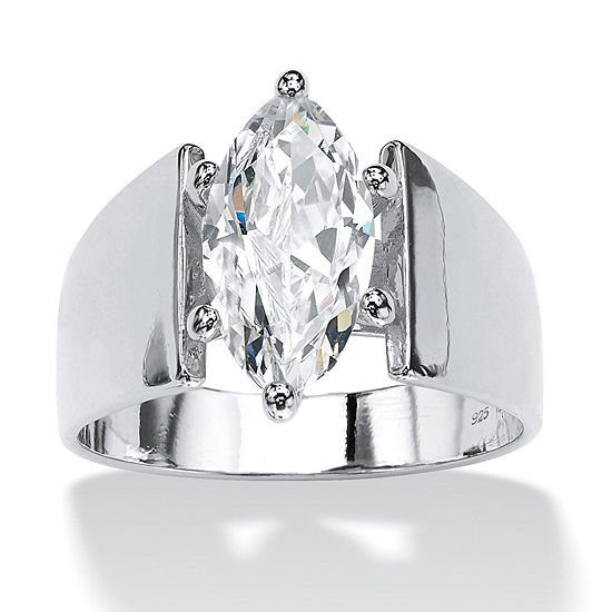 Diamonart Womens 2 CT. T.W. White Cubic Zirconia Engagement Ring