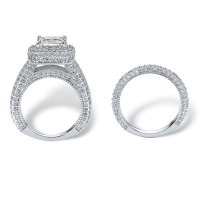 Diamonart Womens 5 CT. T.W. White Cubic Zirconia Bridal Set