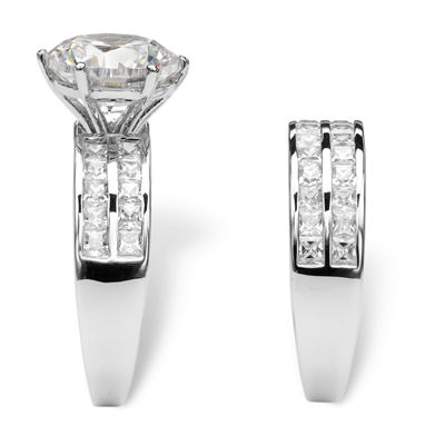 Diamonart Womens 5 3/4 CT. T.W. White Cubic Zirconia Bridal Set