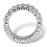 Diamonart 12MM White Cubic Zirconia Platinum Over Silver Rectangular Band