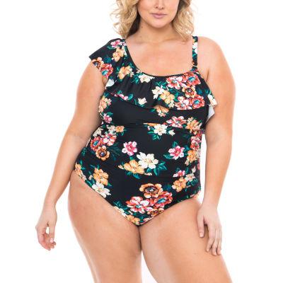 Boutique + Floral One Piece Swimsuit Plus