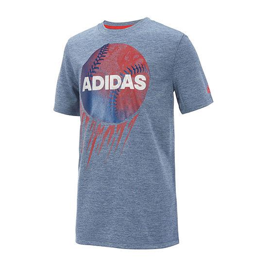adidas Boys Crew Neck Short Sleeve Graphic T-Shirt - Preschool