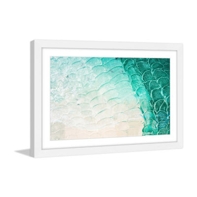 Aqua Waves Framed Painting Print